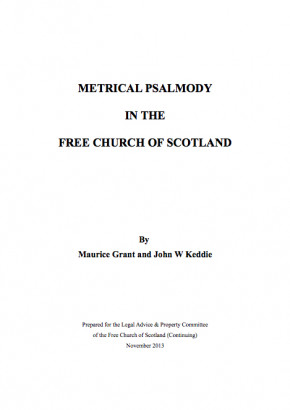Metrical Psalmody in the Free Church of Scotland